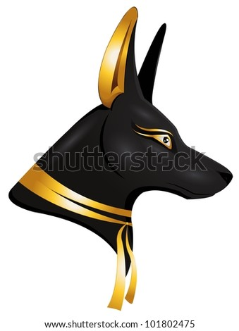 the egyptian got Anubis - stock vector