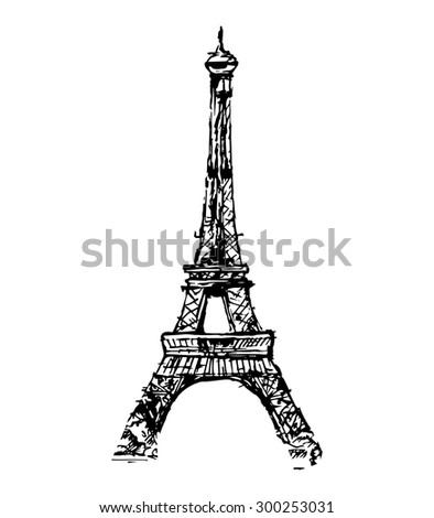 The Eiffel Tower, vector illustration