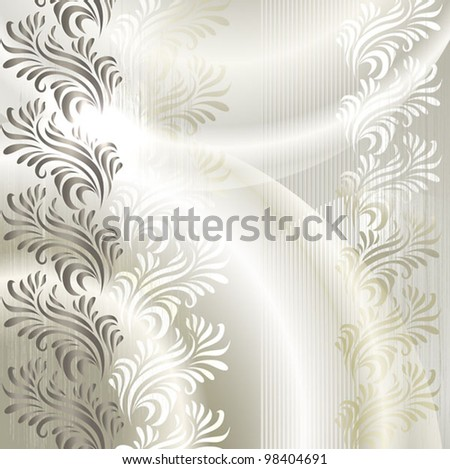 the elegant stylized abstract vector background with a flower ornament - stock vector