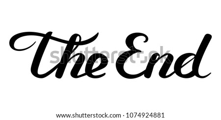 [fb] les angélus // jola&monsiame Stock-vector-the-end-handwritten-inscription-black-on-white-closing-movie-frame-hand-drawn-phrase-editable-1074924881
