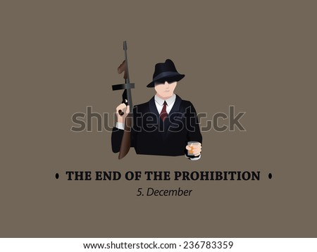 The end of the prohibition in 5. december - stock vector