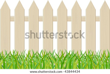 The fence isolated on a white background. Vector illustration - stock vector