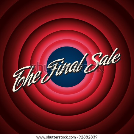 The final sale poster. Vector illustation - stock vector
