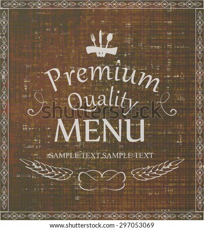 The first page menu design restaurant old style - stock vector