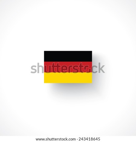the flag of Germany - stock vector