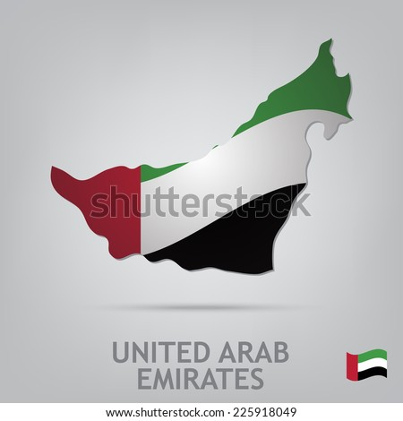 The flag of the country in the form of borders - stock vector