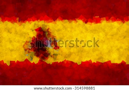 The flag of the Kingdom of Spain in Vector Square Design - stock vector