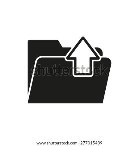 The folder icon. Download symbol. Flat Vector illustration - stock vector