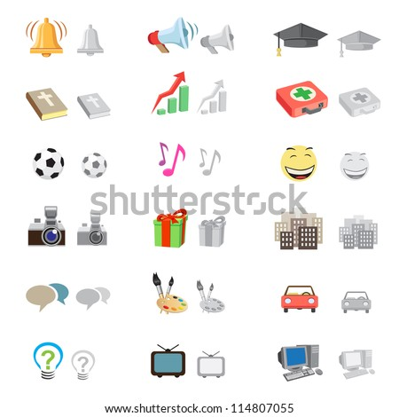 The forum icon set suitable to use any kind of website, with monochrome version, isolated on the white background - stock vector