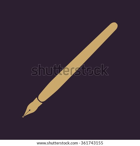 The fountain pen icon.symbol. Flat. Vector illustration - stock vector