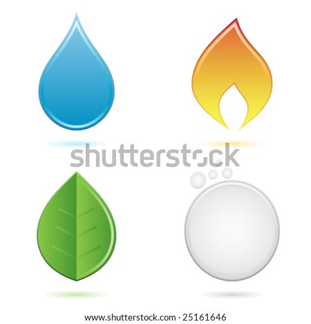 the four elements - stock vector