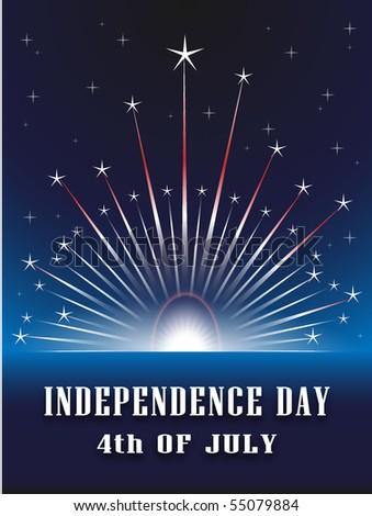 The fourth of july independence day - stock vector
