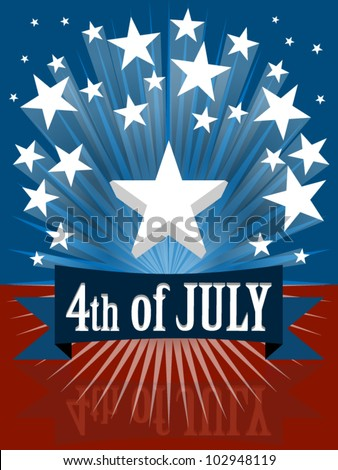 The fourth of july independence day banner - stock vector