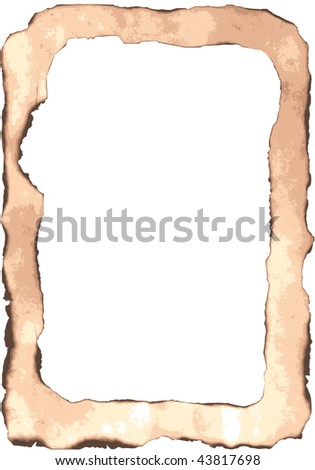 The frame of the burnt material