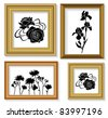The frames for picture with floral ornaments - stock vector