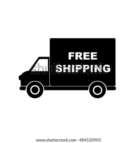 The free shipping icon. Delivery and transportation, transit symbol.