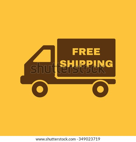 The free shipping icon. Delivery and transportation, transit symbol. Flat Vector illustration - stock vector