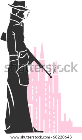 The Gangster - stock vector