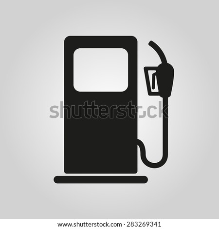 The gas station icon. Gasoline and diesel fuel symbol. Flat Vector illustration