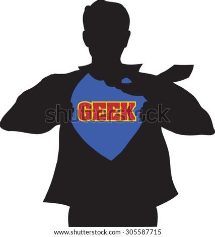 the geek - stock vector