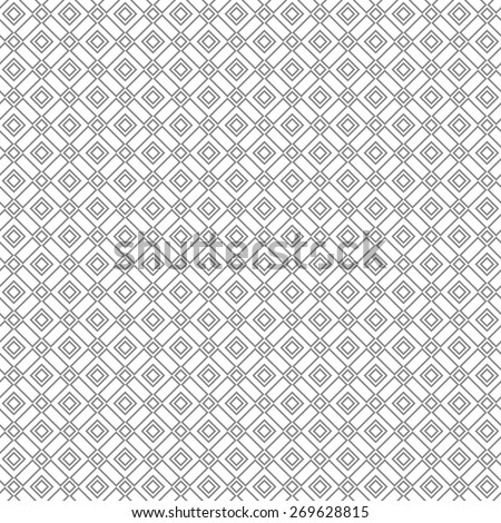 The geometric pattern by lines, squares. Seamless vector background. Gray texture