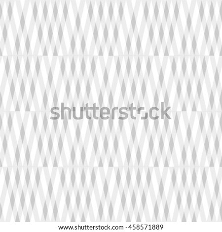The geometric pattern by rhombuses. Seamless vector background. Gray and white texture - stock vector