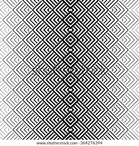 The Geometric Pattern By Stripes. Seamless Vector Background. Black And  White Texture