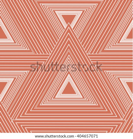 The geometric pattern in the form of large triangles of pink color with a black outline. Background of triangles with acute angles. The pattern of smooth strips. form a strict geometric pattern. - stock vector