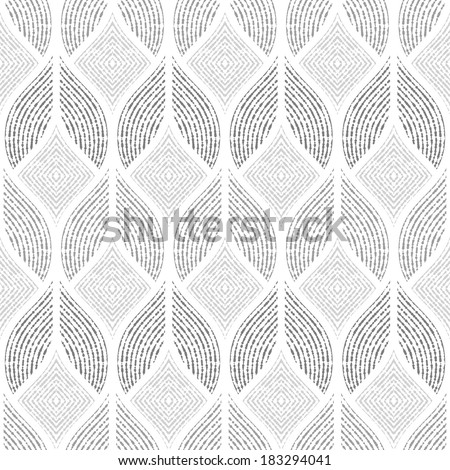 The geometric pattern. Seamless vector background. Gray and white texture. - stock vector