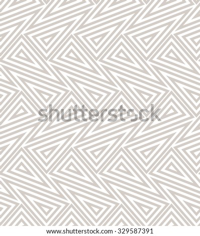 The geometric pattern with lines, stripes. Seamless vector background. Beige and white texture. - stock vector