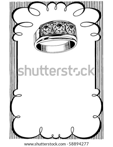 The Gift Diamond - Ad Frame - stock vector