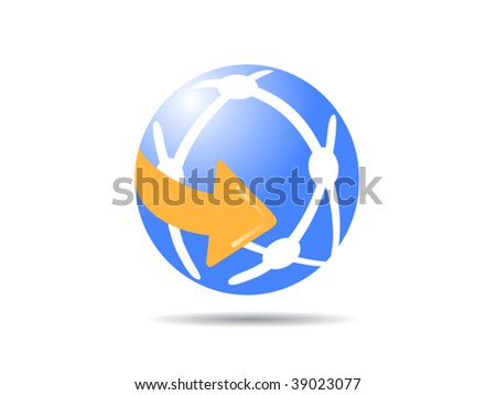the globe icon - stock vector