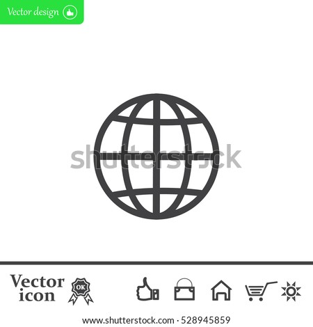The globe icon. Flat Vector illustration