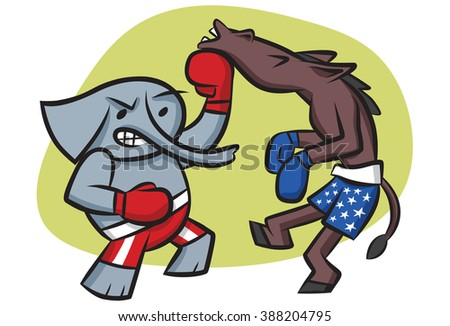 The GOP gets its shots in - stock vector