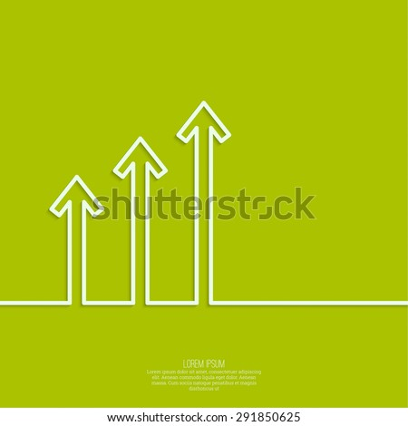 The graph shows the growth and profit. Income from a successful investment. Bank asset growth through profitable investments. minimal. flat shadow. outline - stock vector