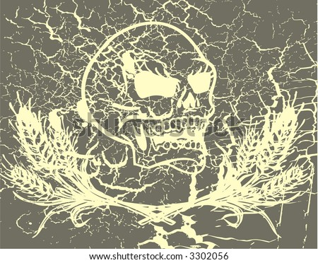 THE GRAPHICH SKULL ELEMENT VITAGE - stock vector