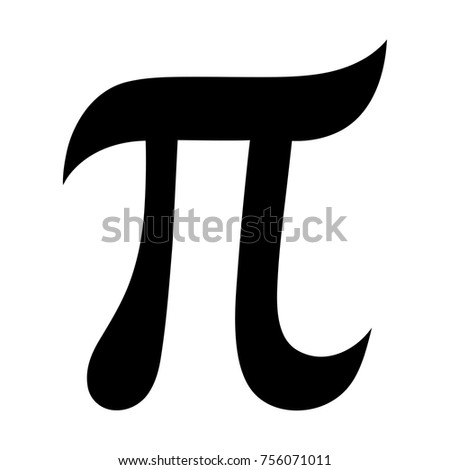 Greek Letter Pi Symbol Mathematical Constant Stock Vector 756071011