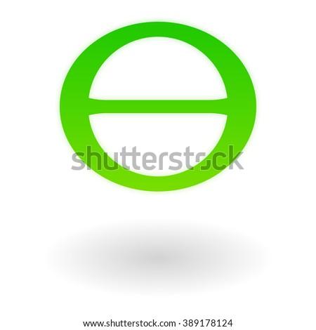 Green Greek Letter Theta Earth Day Stock Vector 2018 389178124