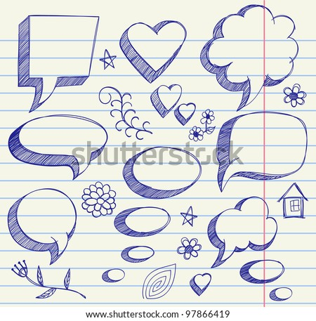 The hand drawing illustration on paper sheet - stock vector