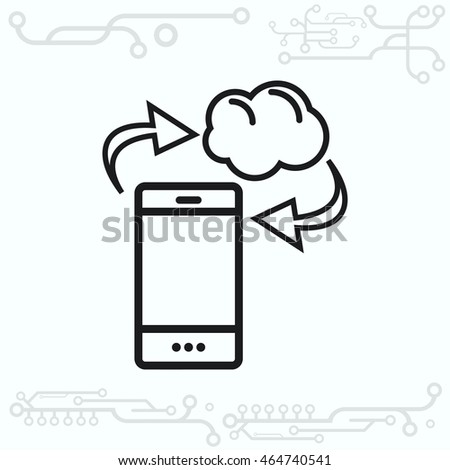 The handset, phone icon , vector illustration.