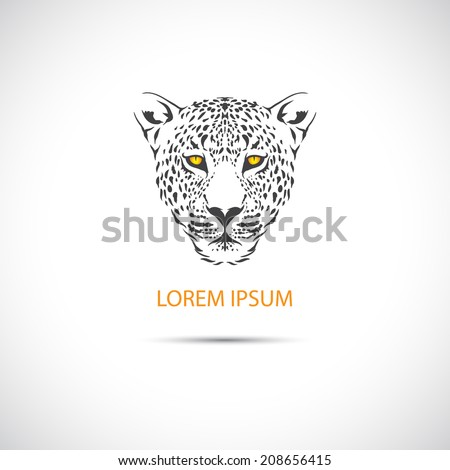 The head of the leopard for the label. Vector. - stock vector