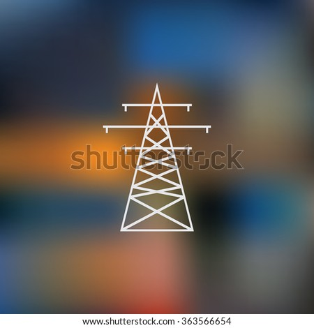 Highvoltage Wire Pole Vector Illustration Stock Vector 363566654 ...