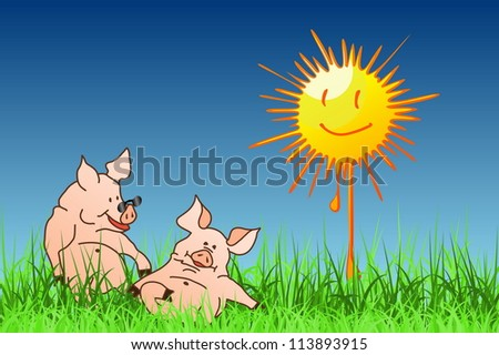 The Hog Summer - stock vector