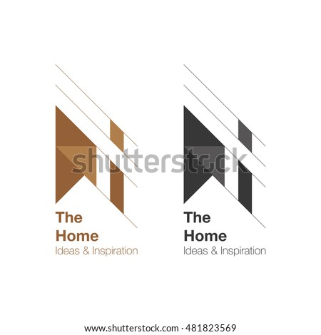The Home and interior Logo design. Vector logo template. Home ideas and inspiration.