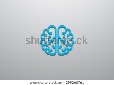 the human brain, web icon. vector design