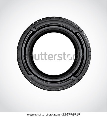 The icon of Car tire - stock vector