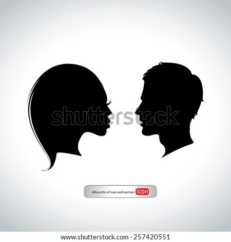 The icon of man and woman  - stock vector