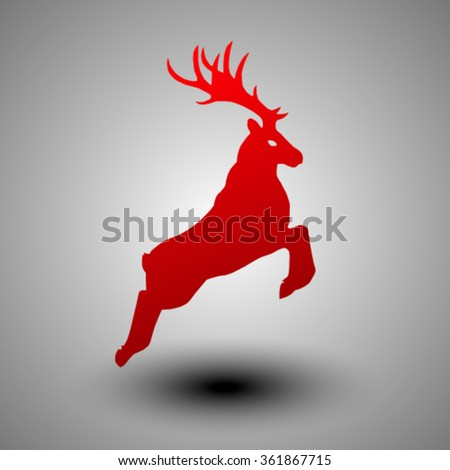 The image of the deer.