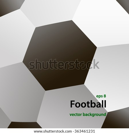 The increased fragment of a soccer ball. Banner for soccer tournaments and championships. A place for advertising. Vector - stock vector