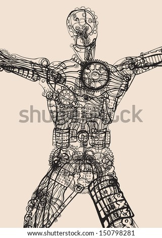 The inner transparency. Body, mind, spirit. - stock vector